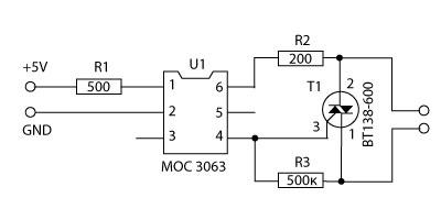 Симисторы bt139 схема